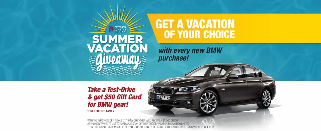 Buy a New BMW Get a FREE Vacation  Peterson BMW of Boise
